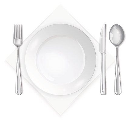 Empty Plate With Spoon Premium Clipart Clipartlogo Com