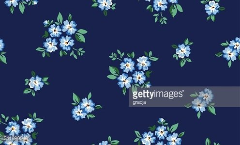 little 'forget me not' flower print ~ seamless background