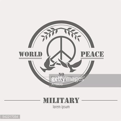 Military, armored vehicles logo and badge. Graphic template