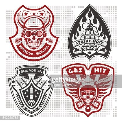 Set Of Military - Army Patches and Badges 4