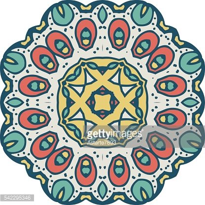 Abstract design element. Round mandala in vector.