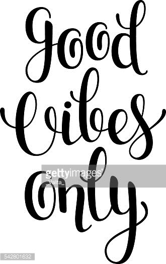 Good Vibes Only Hand Drawn Lettering In Sketch Style