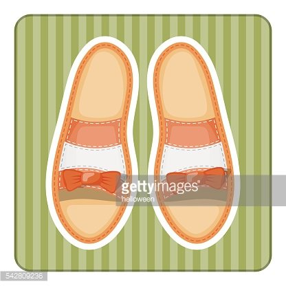 Woman shoes colorful icon