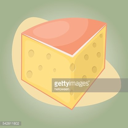 Cheese colorful icon