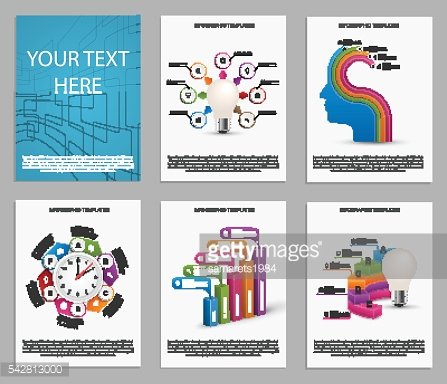 Collection of colorful infographics. Design elements.