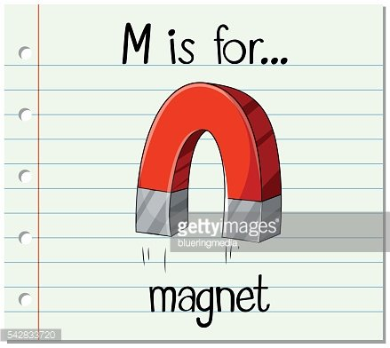 Alphabet M is for magnet