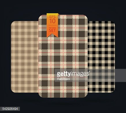 Black and beige gingham Patterns