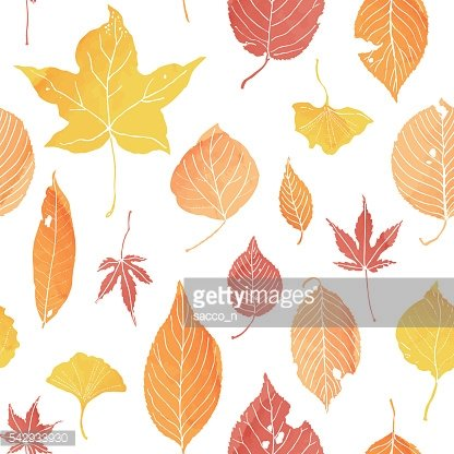 seamless patern of autumn leaves