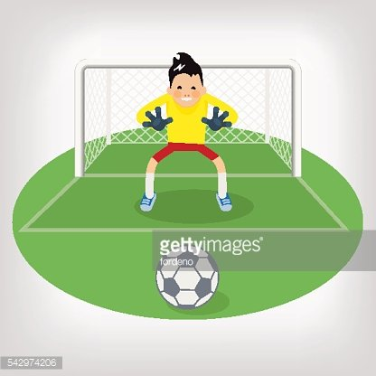 Cute goalkeeper- vector illustration