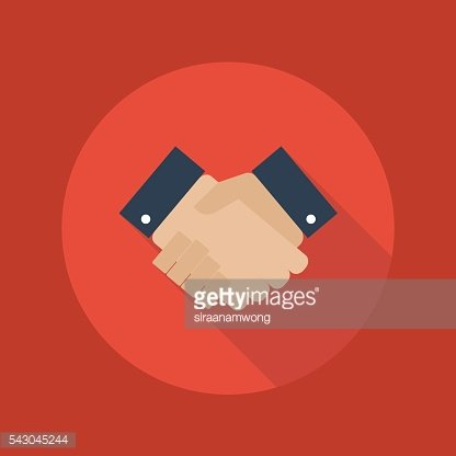 Business Flat Icon. Handshake