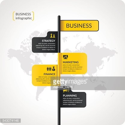 Vector illustration for business infographics with world map