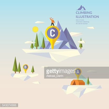 Vector illustration with landscape and Mountains