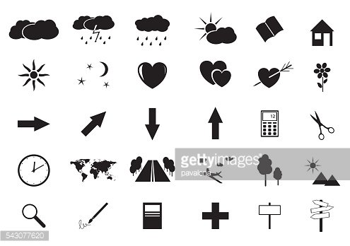 set of vector small icons