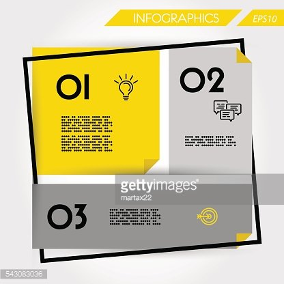 yellow flatbusiness template with three options