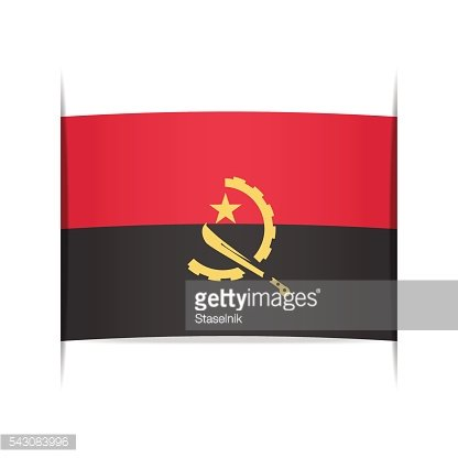 Flag of Angola. Element for infographics.