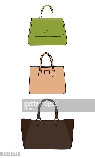 Vector colored handbags