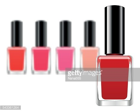 vector background with red nail polish premium clipart clipartlogo com