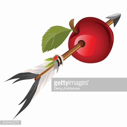 Arrow Indian got into red apple
