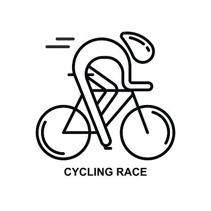 Modern Illustration Of Cyclist Premium Clipart