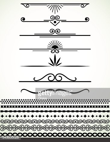 Black and white separators and borders