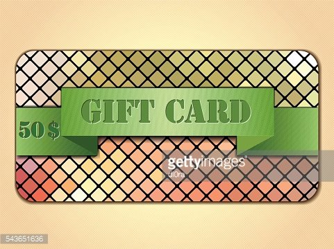 Colorful gift card.