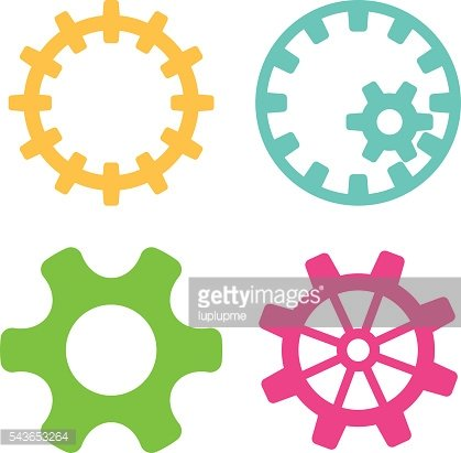 Vector gears icons set.