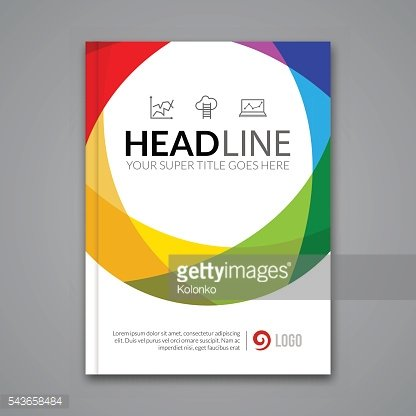 Modern simple colorful circle Vector Template for Business Brochure, Report