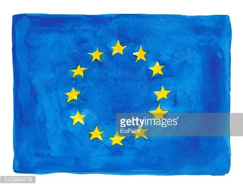 Watercolor flag of Europe Union