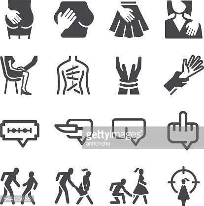 Abuse & Harassment icons set