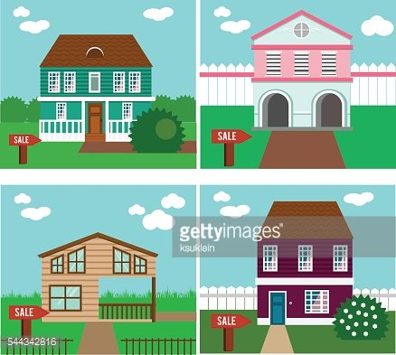 Real estate on sale. House, cottage, townhouse
