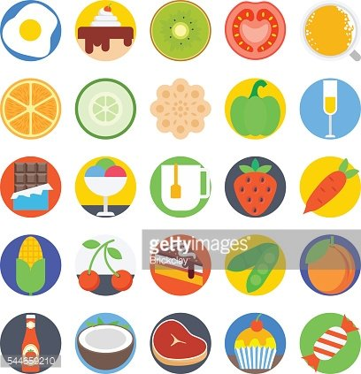 Food Colored Vector Icons 2