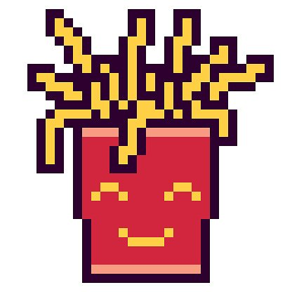 Illustration Design Pixel Art Fries Clipart Image