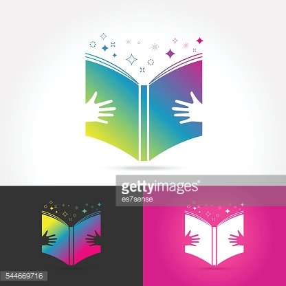 Conception De L Education Livre Logo Vector Clipart Image