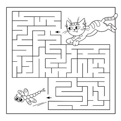 Maze OR Labyrinth Game for Preschool Puzzle premium clipart