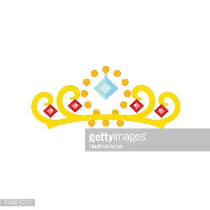Gold Crown with Gemstones Icon