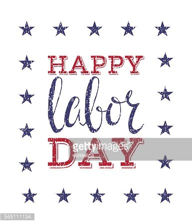 Happy labor day poster.