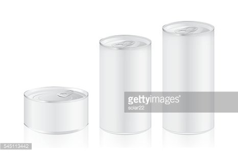 Aluminum can mock up in difference size