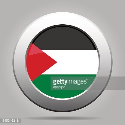 metal button with flag of Palestine