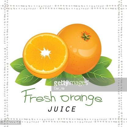Orange fruit slice. Realistic citrus with leaves vector illustration isolated