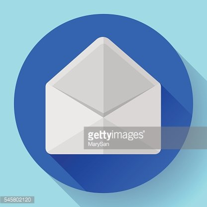Open Envelope Mail Icon new letter message notification Flat 2