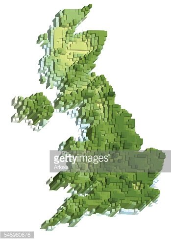uk abstract map