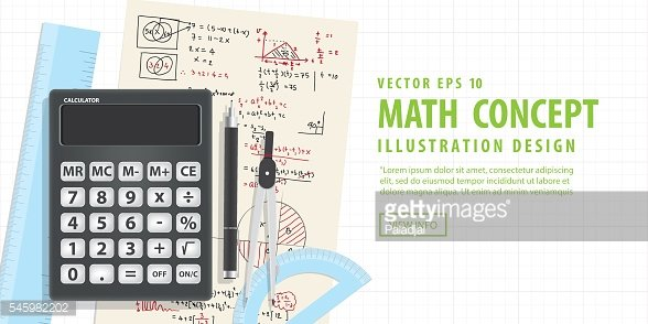 Banner Computational Mathematics With Calculators And Accessories on Mathematical formula.