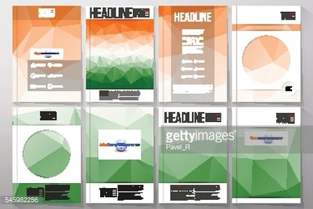 Set of business templates for brochure, flyer or booklet. Happy