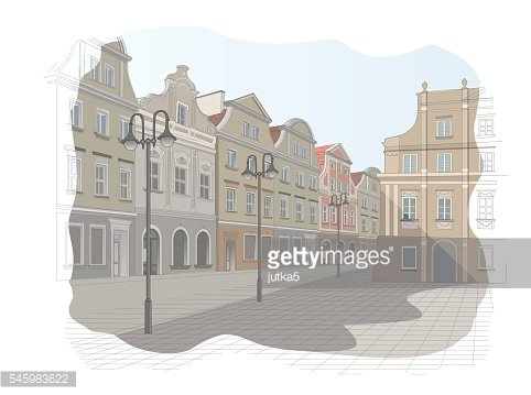 Old town square in Poland