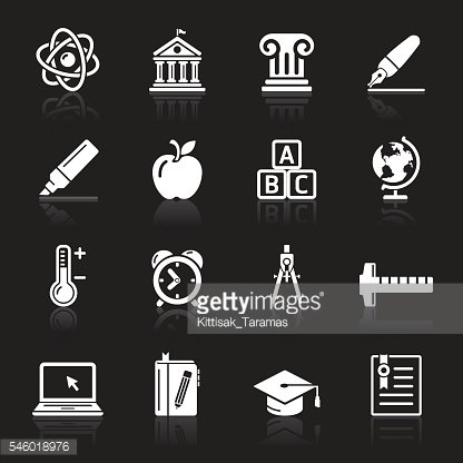 Education Icons set.