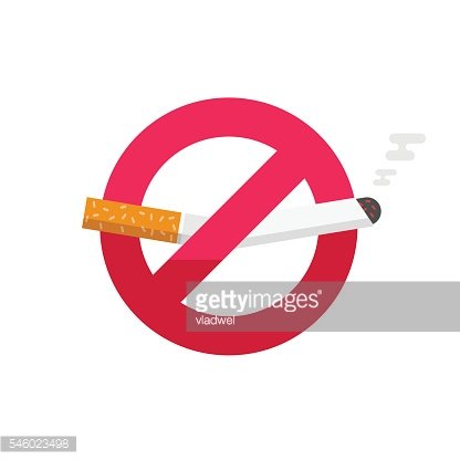 No smoking sign, dont smoke vector icon badge isolated