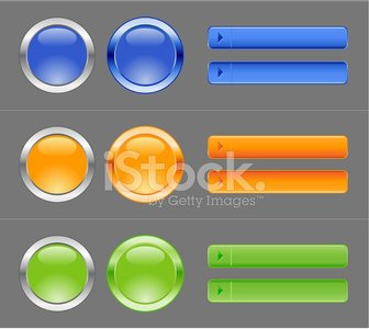 internet buttons blue orange and green