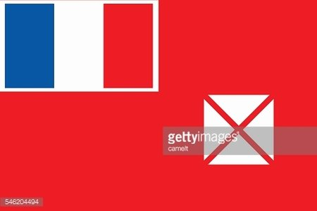 FLat Wallis and Futuna flag vector