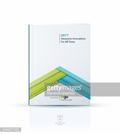 Cover design template with arrow in material style.