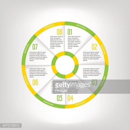 Infographic circle banner. Template for graph, report, presentation, data visualisation